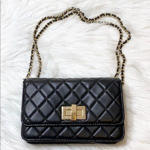 Aldo Mini Quilted Flap Chain Strap Crossbody